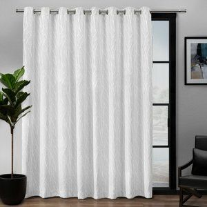 DARBY HOME Co Prower White Patio Curtain Panel NEW